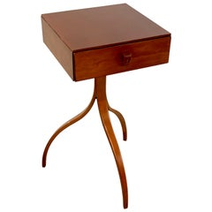 French Modern Sculptural End Table/ Nightstand