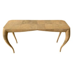French Modern Shagreen Console Table by R&Y Augousti, Paris