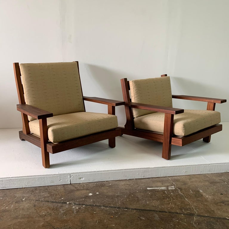 French Modern Style Teak Low-back Lounge Chair For Sale 3