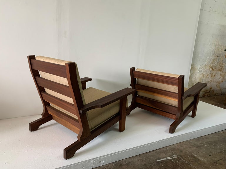French Modern Style Teak Low-back Lounge Chair For Sale 4