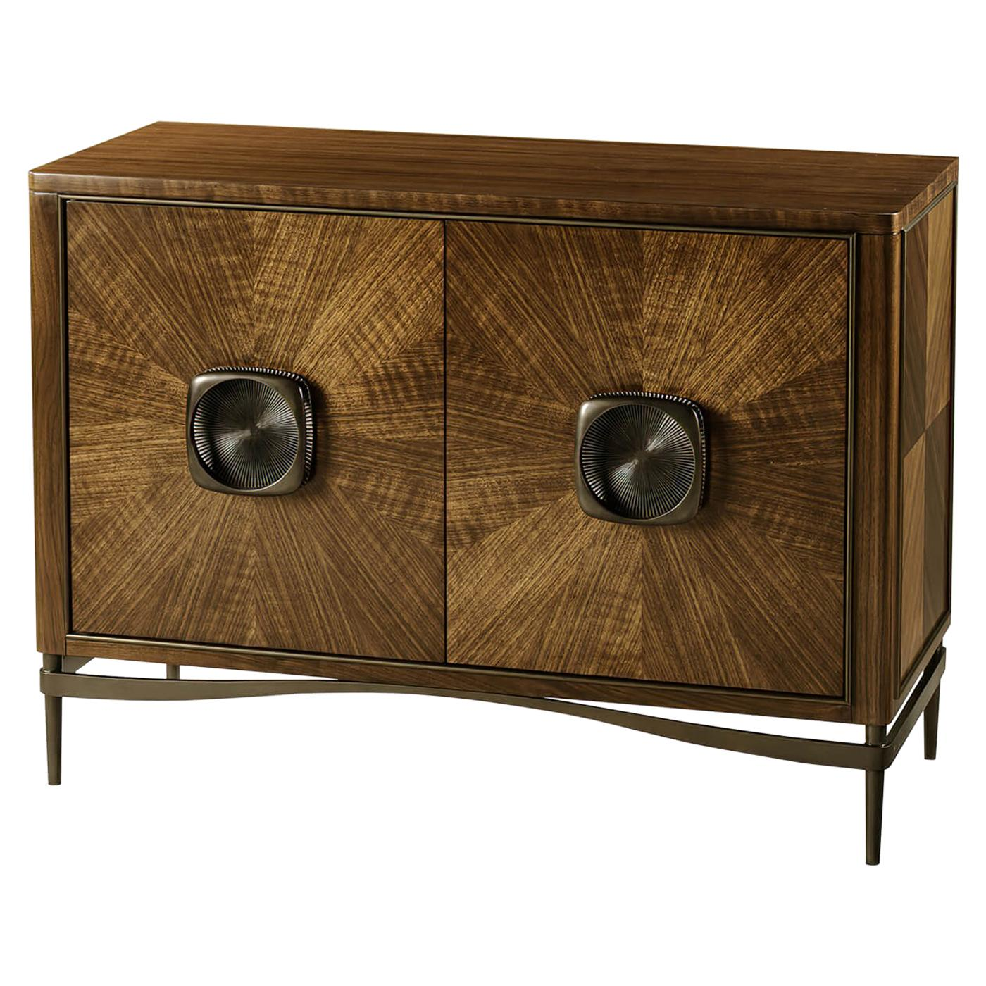 French Modern Walnut Cabinet