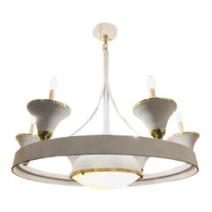 French Moderne Style Chandelier