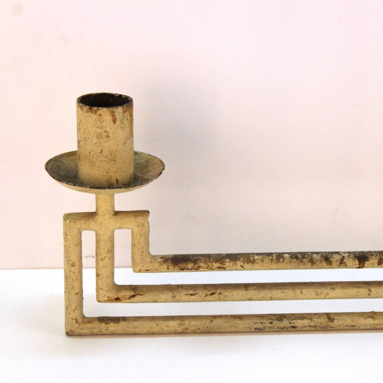 20th Century French Modernist Architectural Hanging Light Fixture For Sale