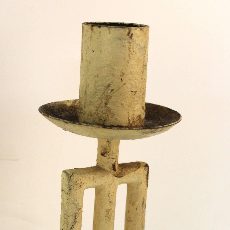 French Modernist Architectural Hanging Light Fixture For Sale 2