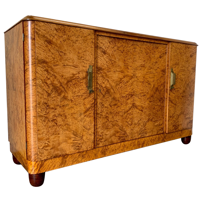 French Modernist Burl Wood Buffet