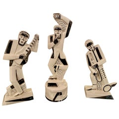 French Modernist Cubist Trio of Musicians Designed by Primavera
