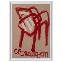 """French Modernist Painting Titled """"Red Chair"""""""