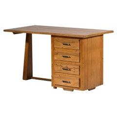 French Modernist Pine Desk
