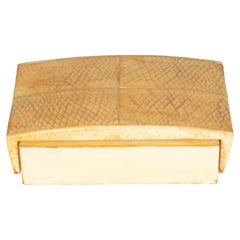 French Modernist Snake Skin, Elm & Parchment Decorative Box by R&Y Augousti