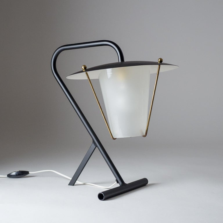 French Modernist Table Lamp, circa 1950 For Sale 3