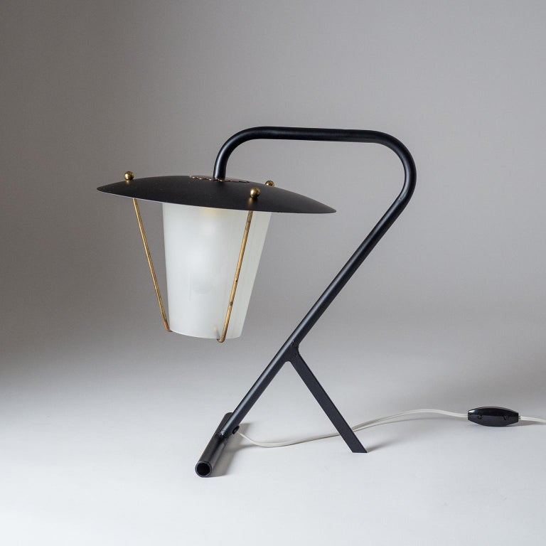 Mid-Century Modern French Modernist Table Lamp, circa 1950 For Sale