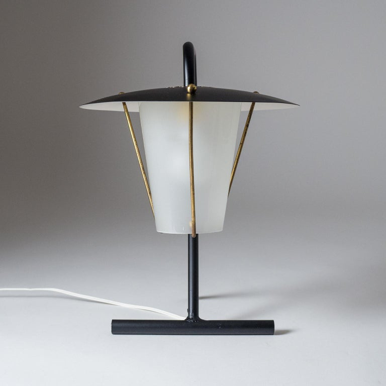 French Modernist Table Lamp, circa 1950 In Good Condition For Sale In Vienna, AT