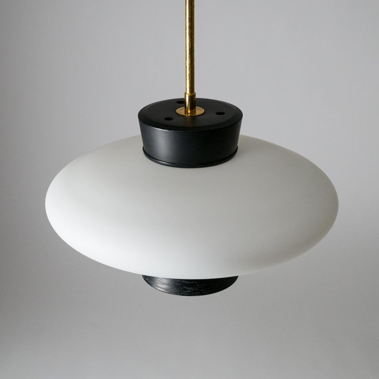 French Modernist 'UFO' Pendant, 1950s For Sale 4