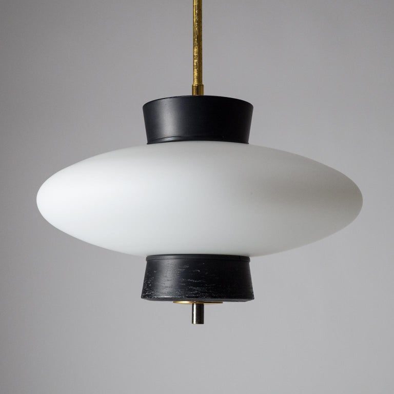 French Modernist 'UFO' Pendant, 1950s For Sale 5