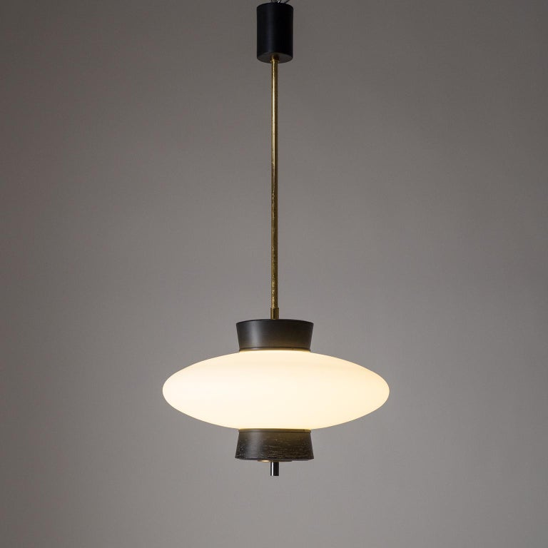 French Modernist 'UFO' Pendant, 1950s For Sale 7