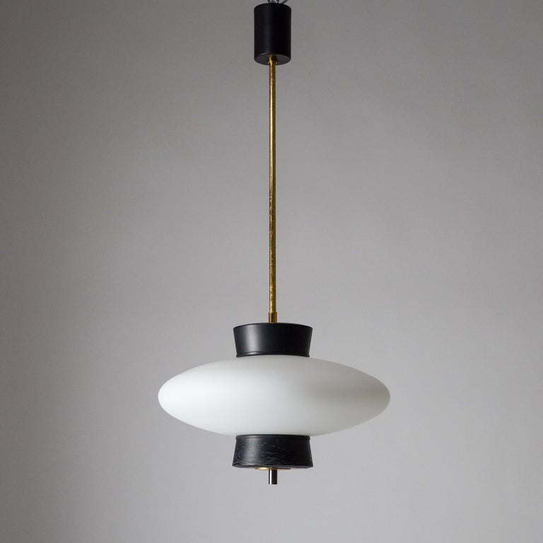 French Modernist 'UFO' Pendant, 1950s For Sale 8