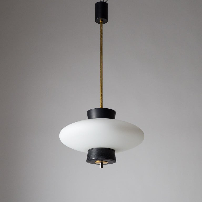 French Modernist 'UFO' Pendant, 1950s For Sale 9