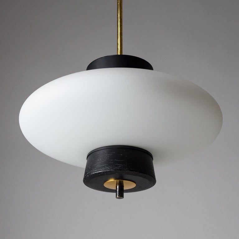French Modernist 'UFO' Pendant, 1950s For Sale 1
