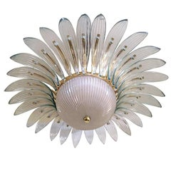 French Molded Glass Light Fixture