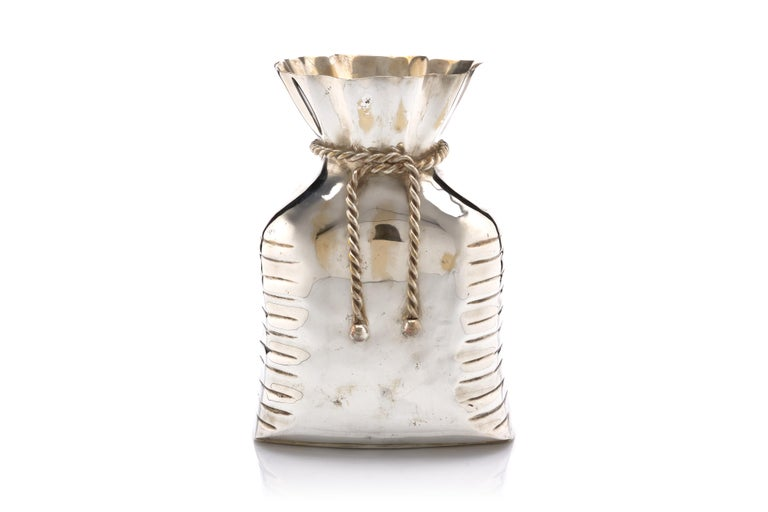 Modern French Money Bag Vase For Sale
