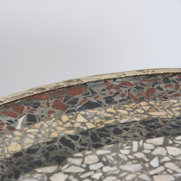 French Mosaic Top Bistro Table, 1920s In Good Condition For Sale In London, GB