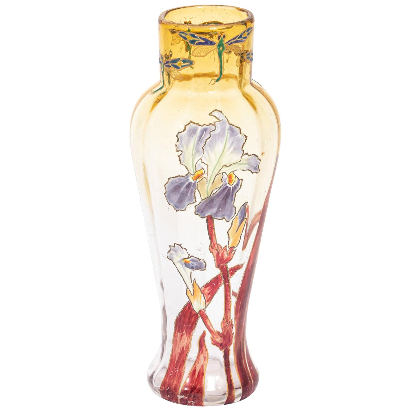 French Mt. Joye Hand Painted Vase
