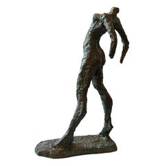 French Museum Copy of 'The Walking Woman' by Alberto Giacometi, circa 1970
