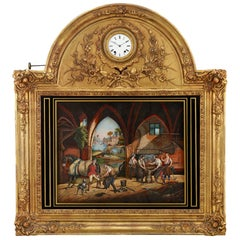French Musical Automation Picture Clock
