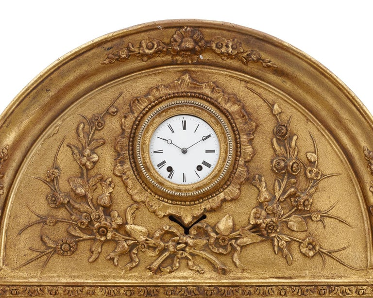 19th Century French Musical Automaton Picture Clock For Sale