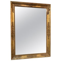 French Napolean III Giltwood Mirror