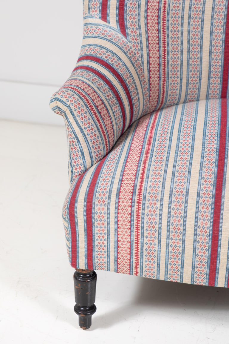 Fabric French Napoleon Chair For Sale