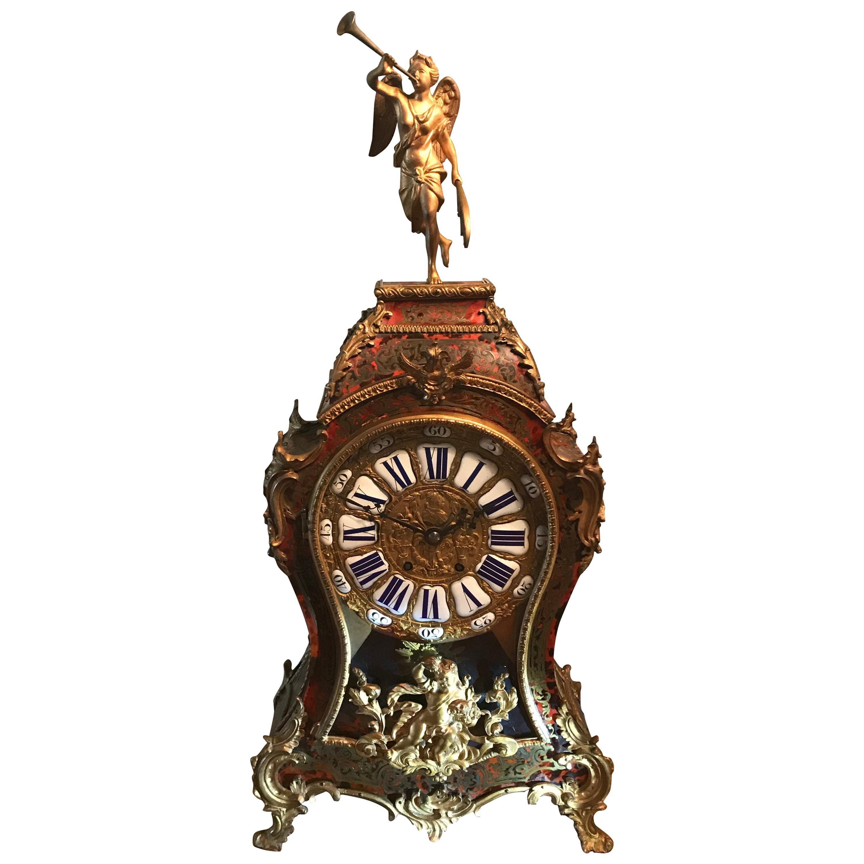 French, Napoleon III Boulle Clock, 19th Century, S. Marti & Cie