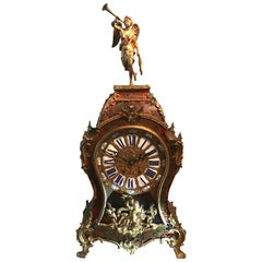French, Napoleon III Boulle Clock, 19th Century, S. Marti & Cie