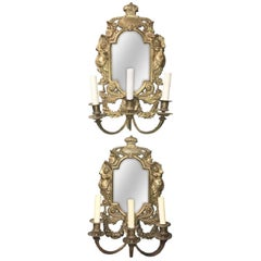 French Napoleon III Bronze Wall Sconces