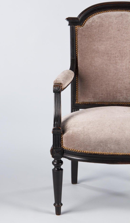 French Napoleon III Ebonized Armchair, 1870s For Sale 9