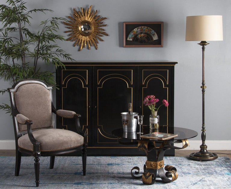 French Napoleon III Ebonized Armchair, 1870s For Sale 13