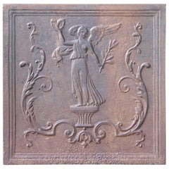 French Napoleon III Fireback Depicting an 'Allegory of Peace', 19th Century