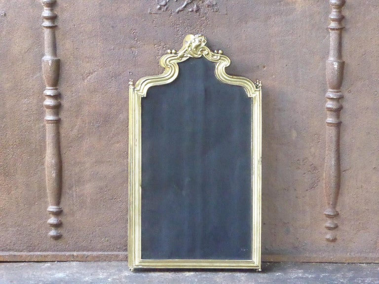 French Napoleon III Fireplace Screen or Fire Screen For Sale 7