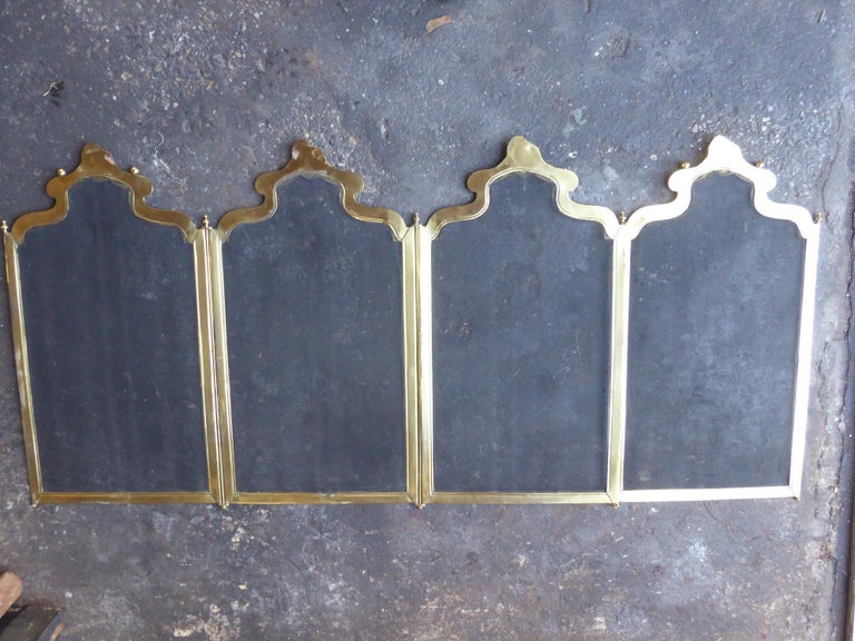 French Napoleon III Fireplace Screen or Fire Screen For Sale 9