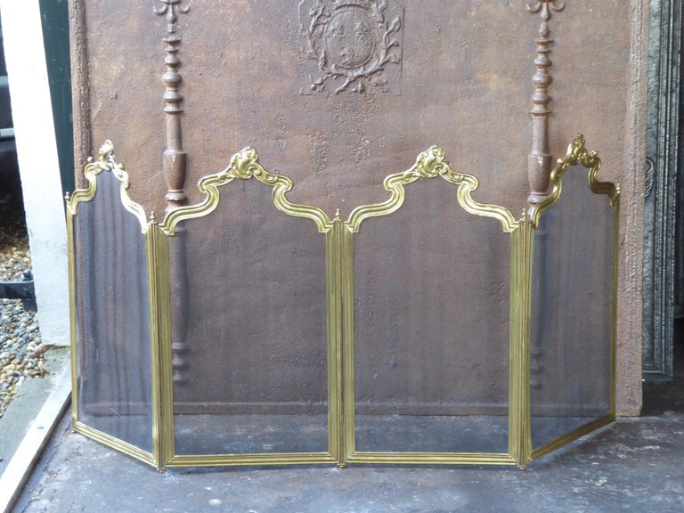 French Napoleon III Fireplace Screen or Fire Screen In Fair Condition For Sale In Amerongen, NL