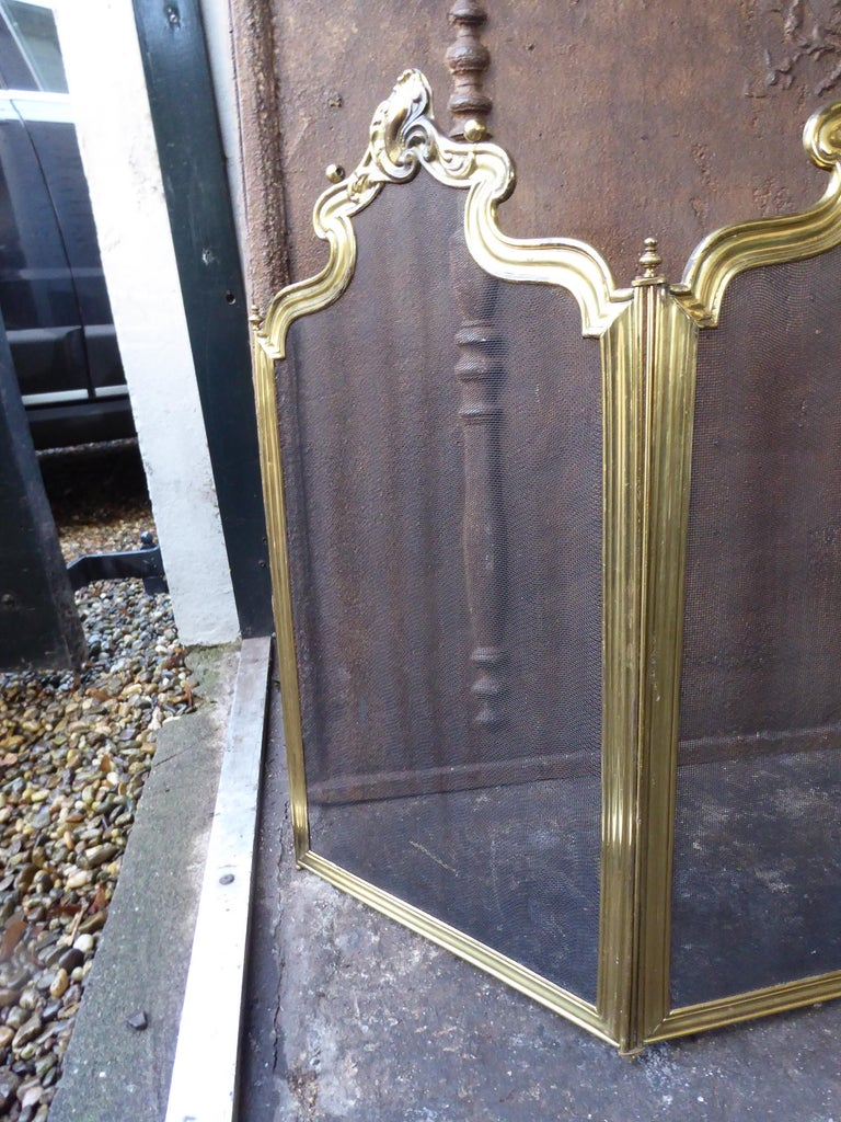 20th Century French Napoleon III Fireplace Screen or Fire Screen For Sale