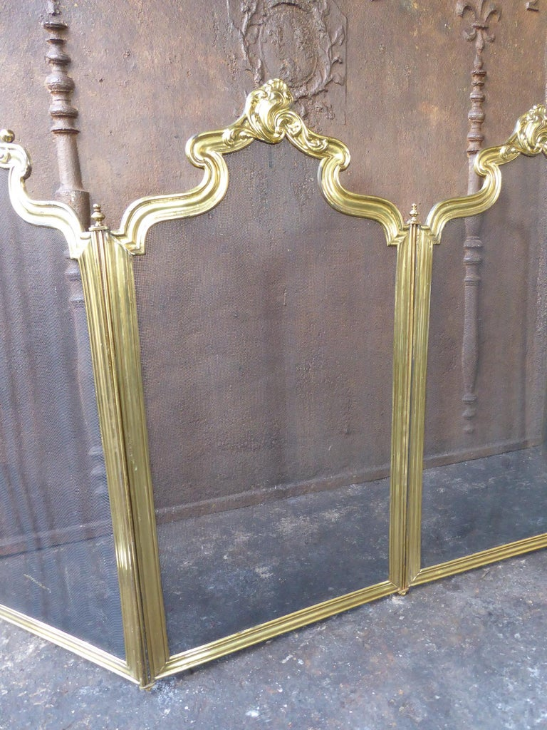 Iron French Napoleon III Fireplace Screen or Fire Screen For Sale