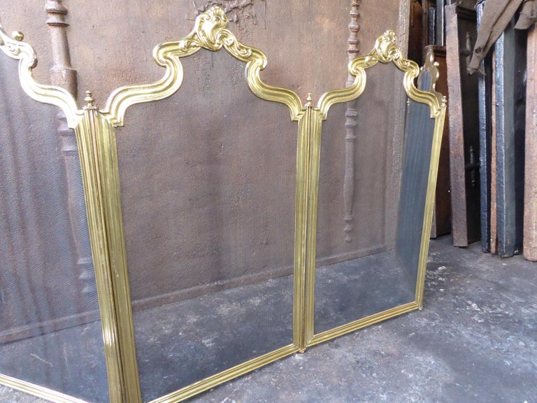 French Napoleon III Fireplace Screen or Fire Screen For Sale 1