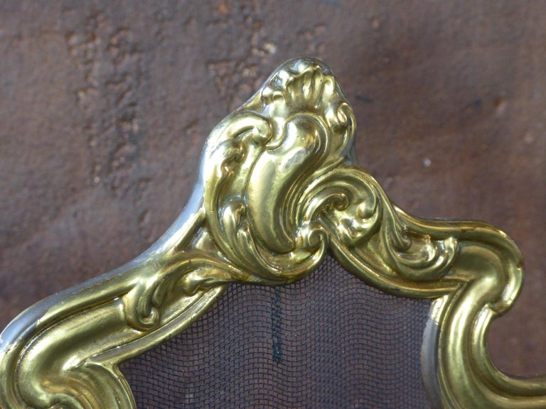 French Napoleon III Fireplace Screen or Fire Screen For Sale 3