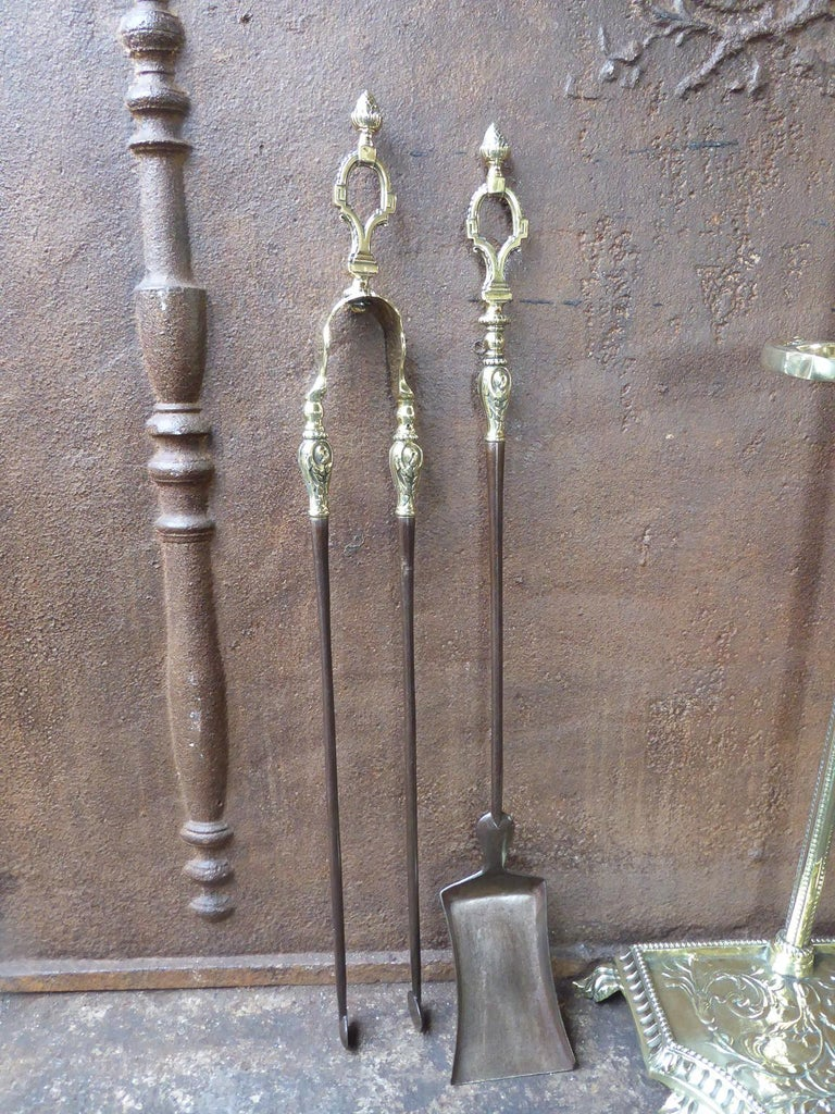 French Napoleon III Fireplace Tools or Fire Tools For Sale 2