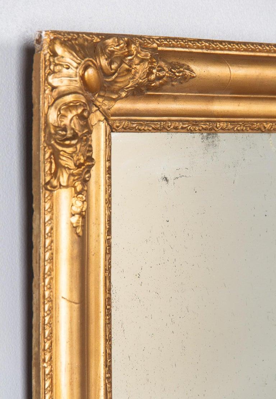 French Napoleon III Giltwood Mirror, circa 1870s For Sale 7
