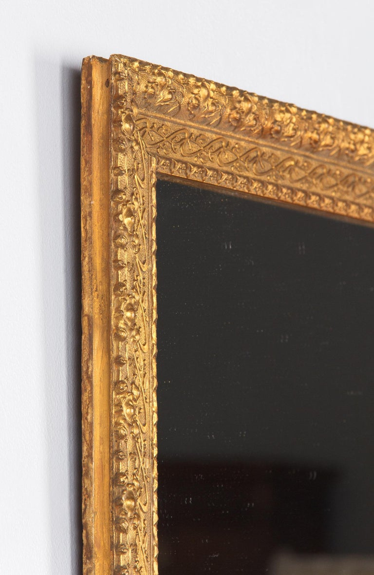 French Napoleon III Giltwood Mirror, circa 1870s For Sale 8