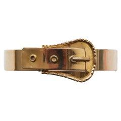 French Napoleon III Gold Buckle Bracelet
