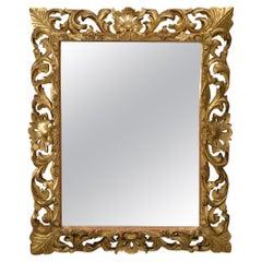French Napoleon III Gold Mirror