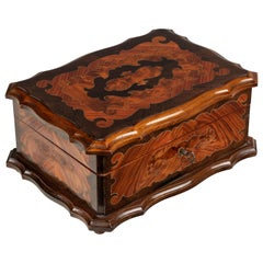 French Napoleon III Marquetry Jewelry Box